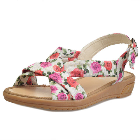 Comfortable Floral Strappy Sandals