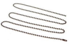 "30"" Beaded Metal Neck Chain"