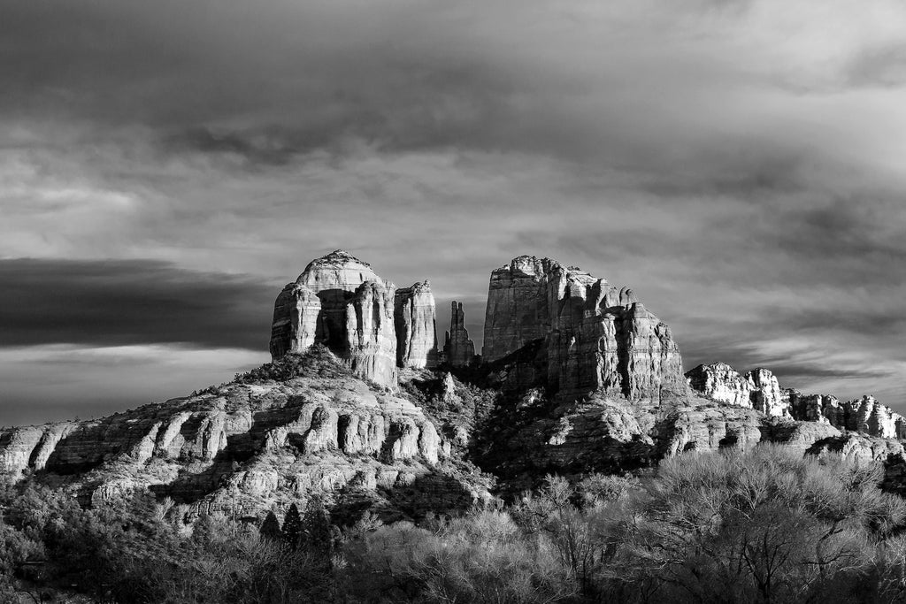 Cathedral Rock 1 B-W