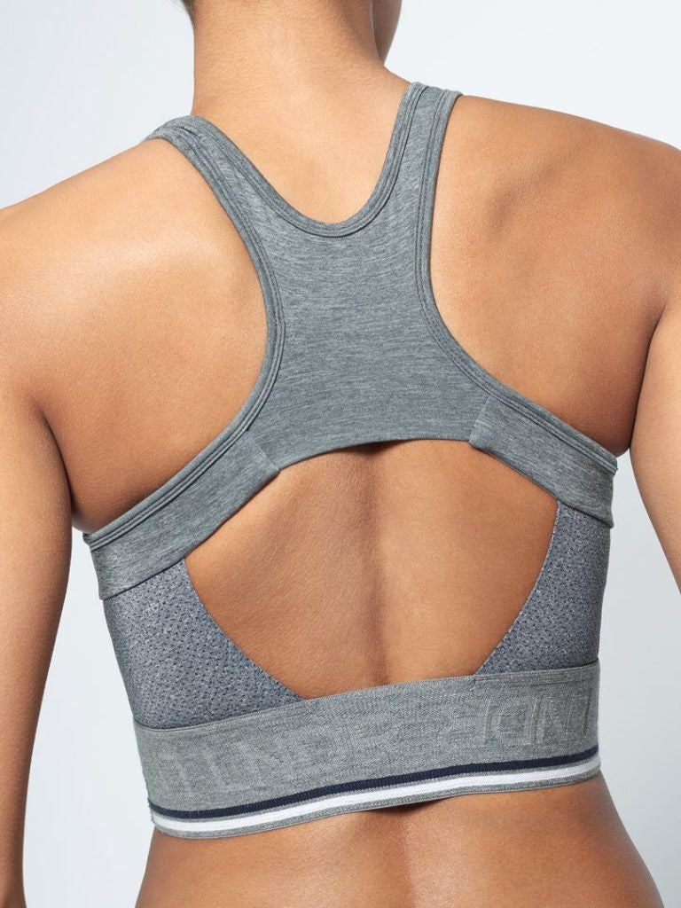 LNDR Breathe grey Sports BH - myactivestyle.no