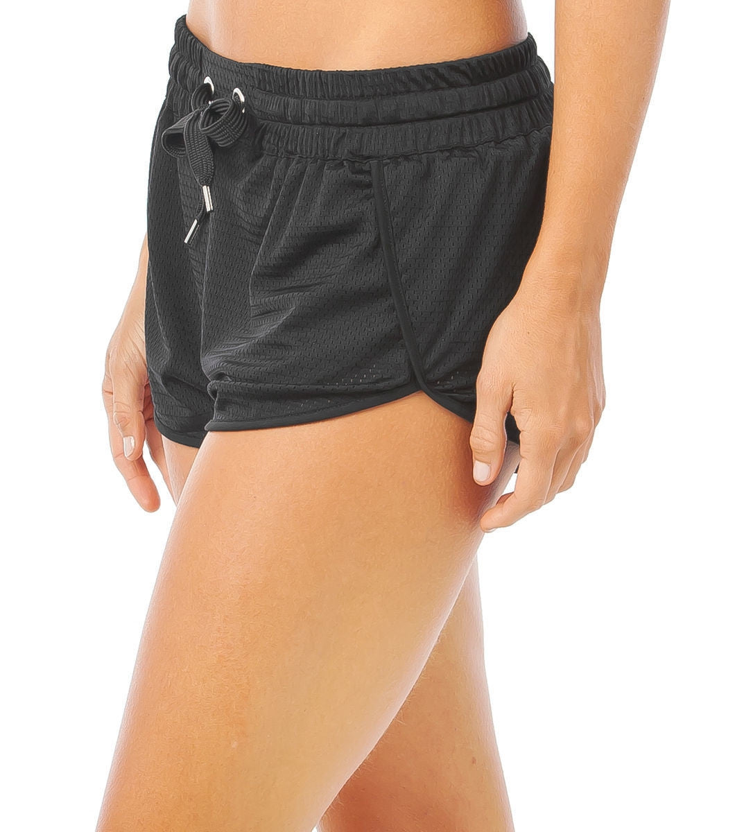 L'urv Fluffy clouds svart Shorts - myactivestyle.no