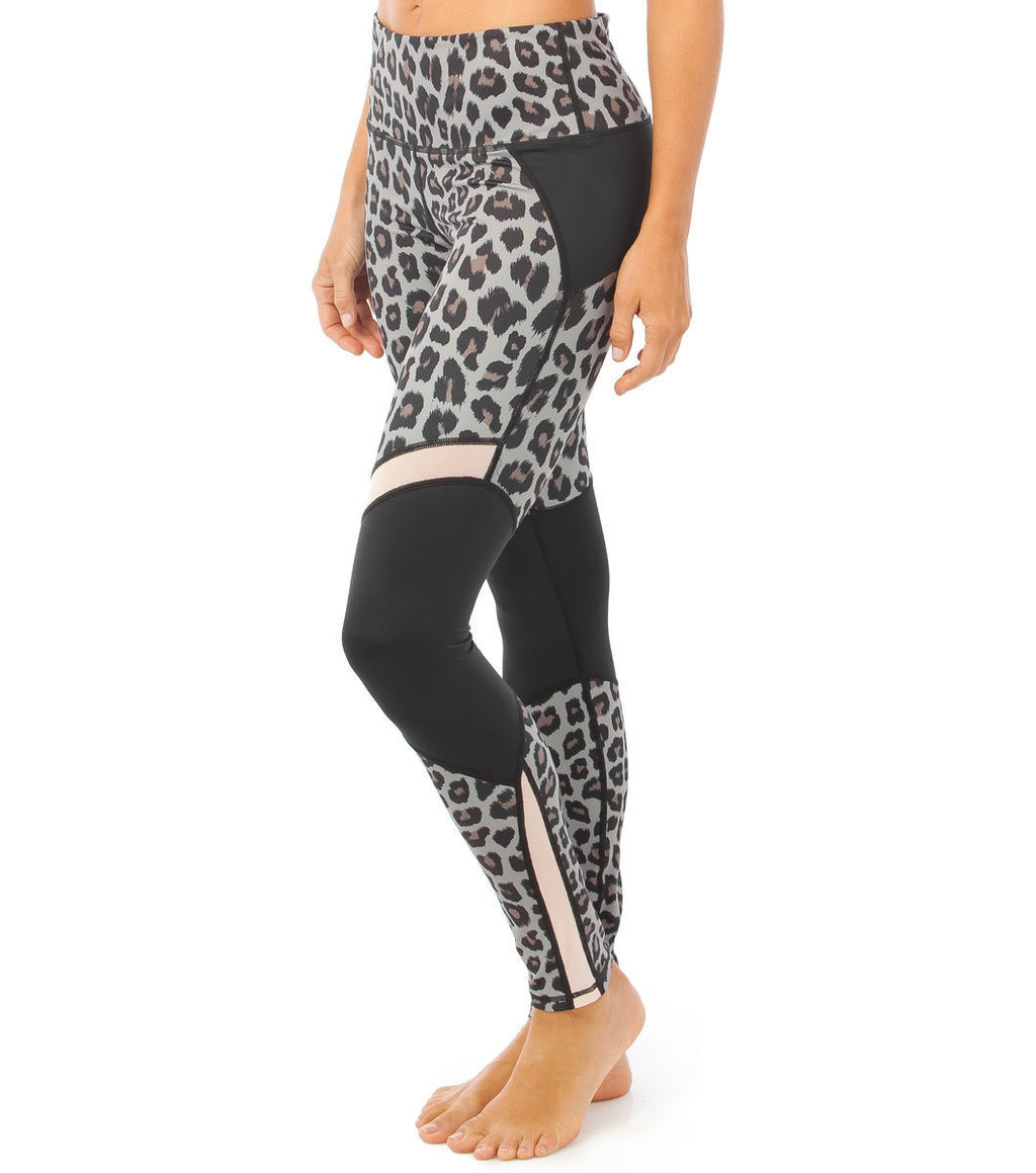 L'urv Jungle fever leopard spliced Tights - myactivestyle.no