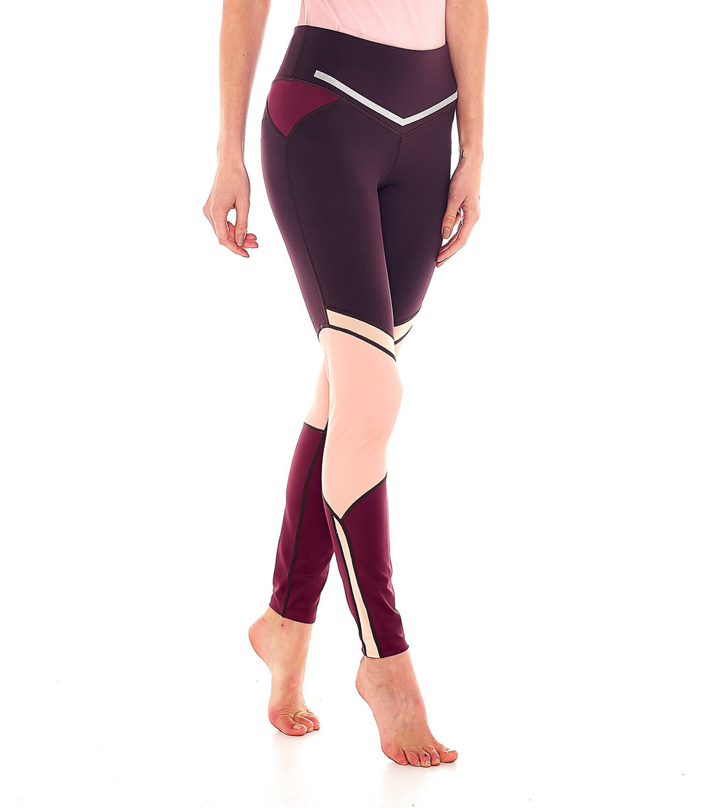 L'urv I am a dreamer plum/rosa Tights - myactivestyle.no