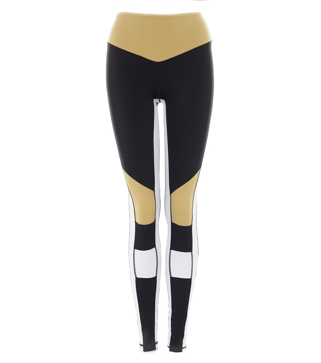 L'urv burn it up sort/beige Tights - myactivestyle.no