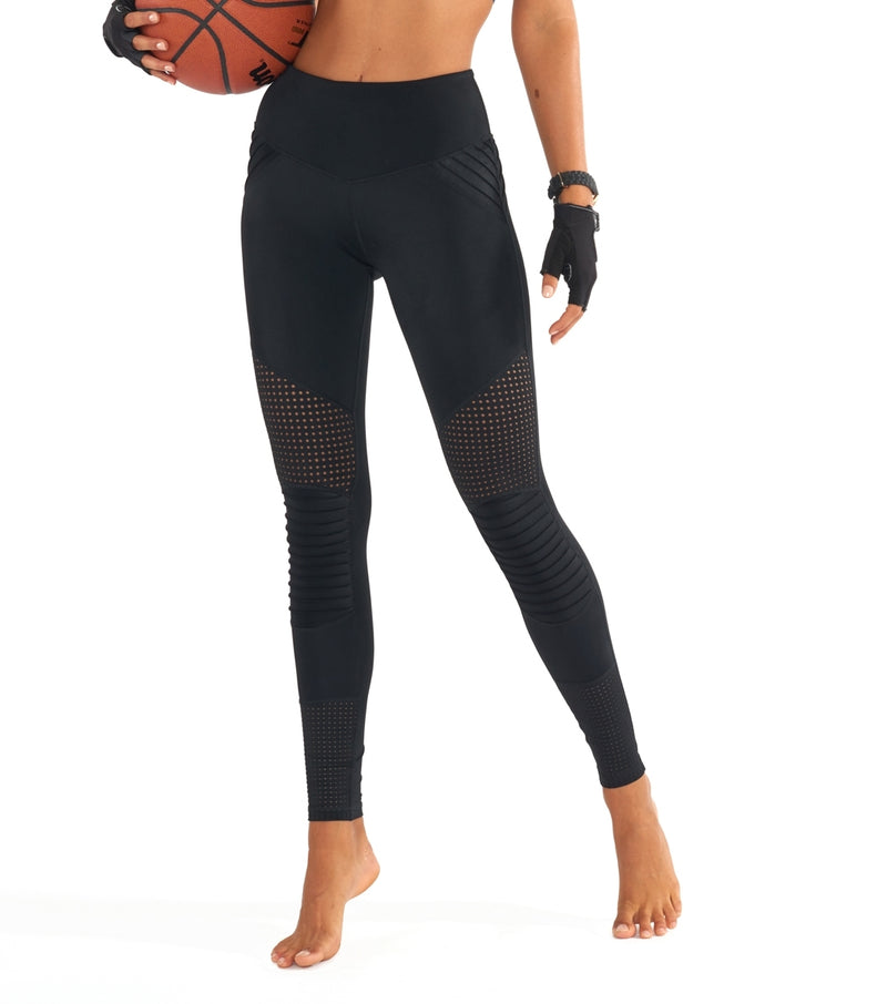 L'urv race ready moto sort Tights - myactivestyle.no