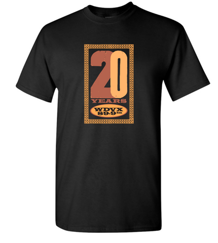 WDVX 20 Year Logo Black T-Shirt
