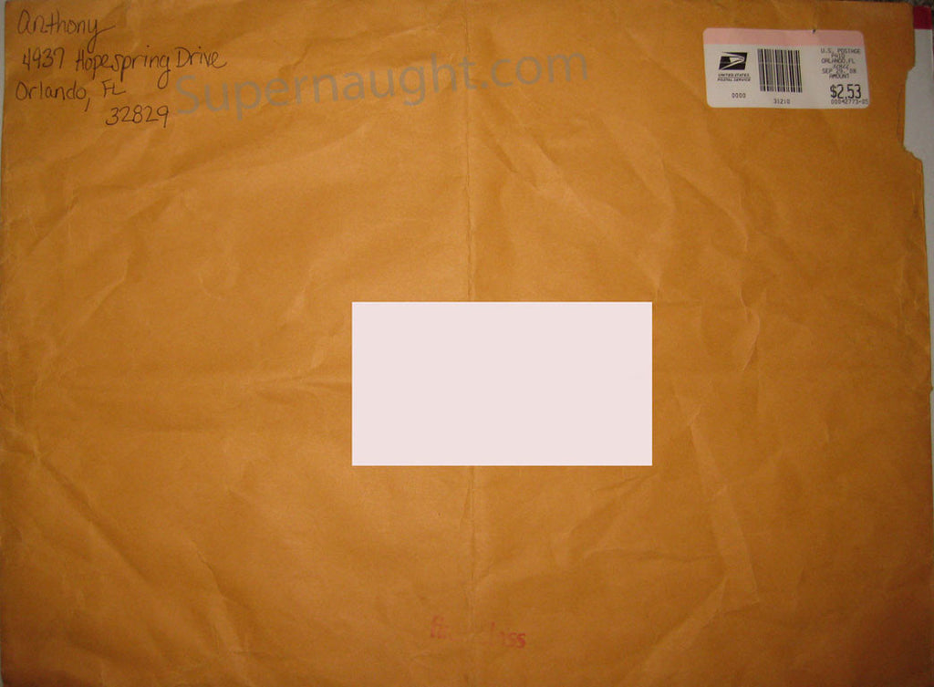 Casey Anthony Pre Arrest Signed Envelope with 2 Wristbands and Postcard
