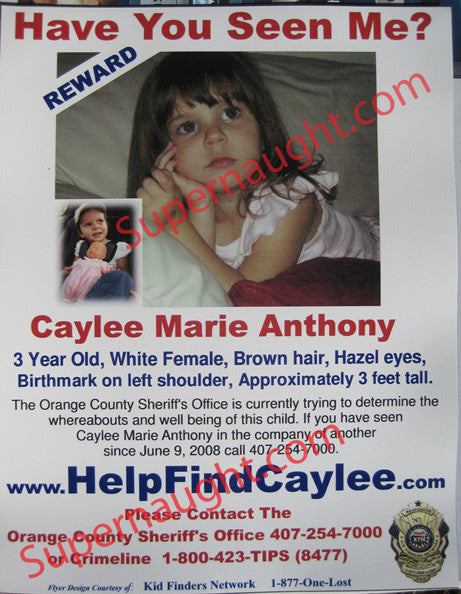 Caylee Anthony Have You Seen Me authentic magnet - Supernaught True Crime Collectibles