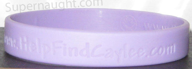 Caylee Anthony purple bracelet distributed in 2008 - Supernaught True Crime Collectibles