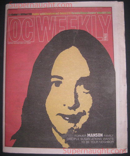Susan Atkins OC Weekly May 2002 Cover Story - Supernaught True Crime Collectibles