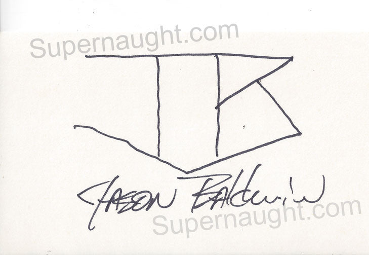 Charles Jason Baldwin card signed twice - Supernaught True Crime Collectibles