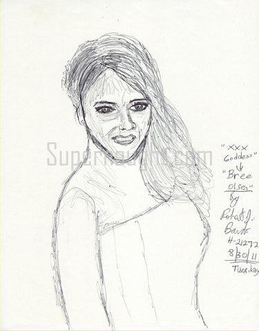Robert Bardo Bree Olson Drawing Signed