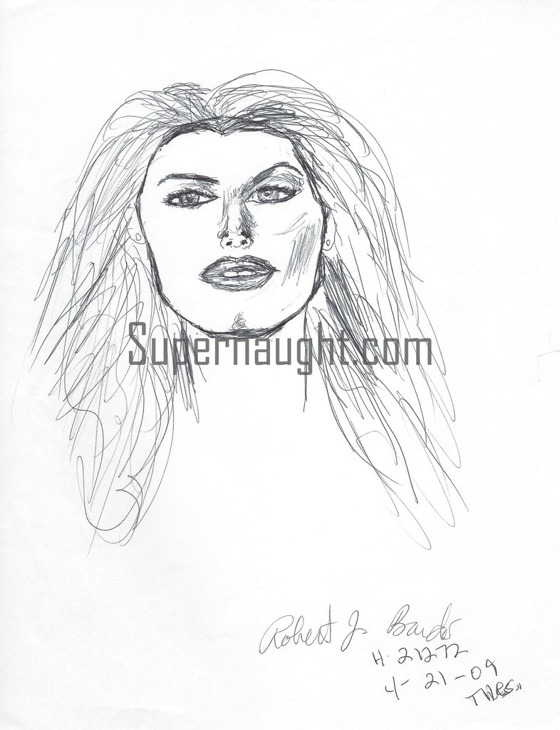 Robert Bardo Actress Brooke Hogan Drawing Signed