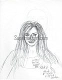 Robert Bardo Actress Denise Richards Drawing Signed