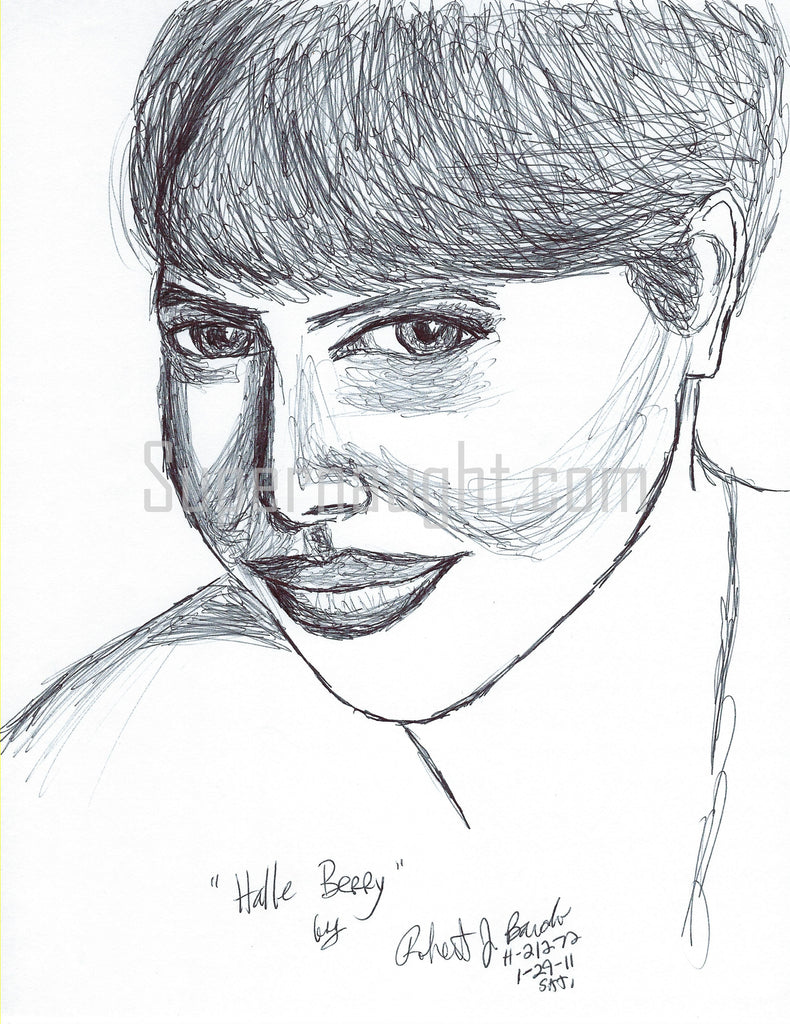 Robert Bardo Halle Berry Drawing