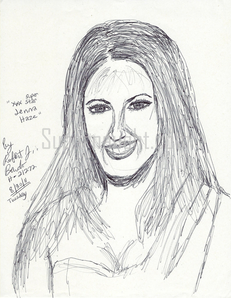Jenna Haze Signed Drawing