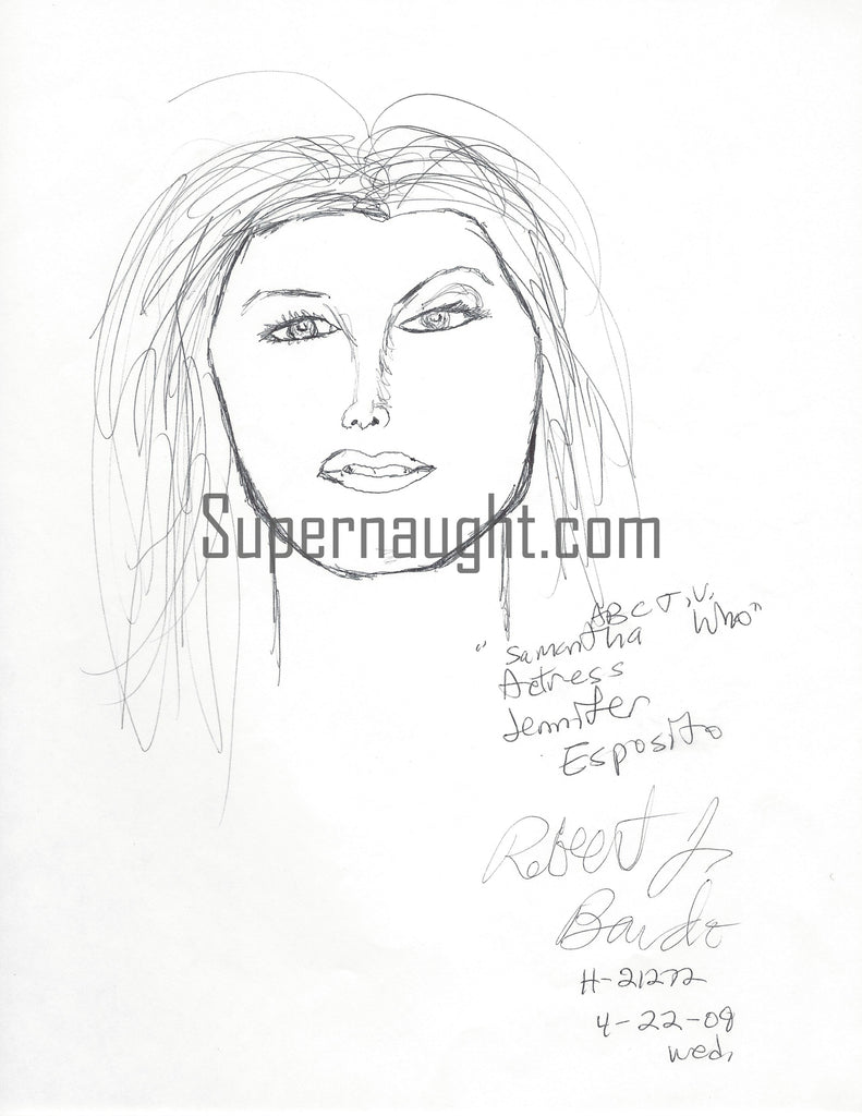 Robert Bardo Jennifer Esposito Portrait Signed