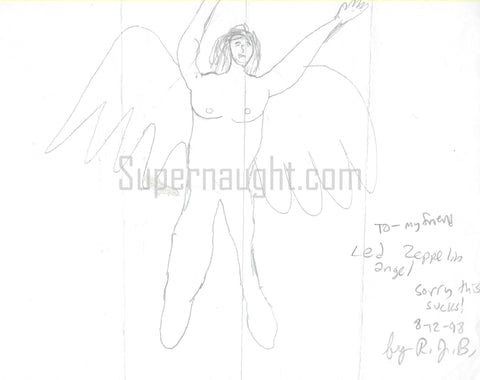 Robert Bardo Led Zeppelin Angel Drawing