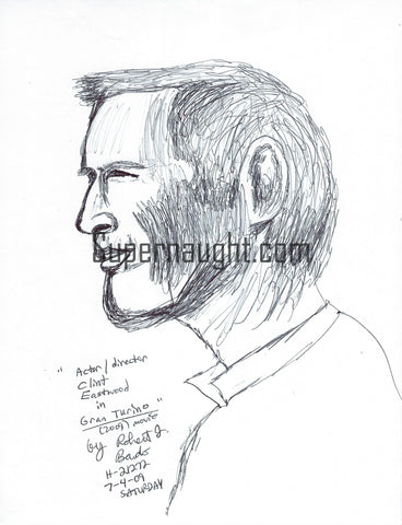 Robert J. Bardo Clint Eastwood Drawing