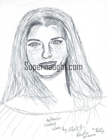 Robert Bardo Actress Lindsay Lohan Drawing