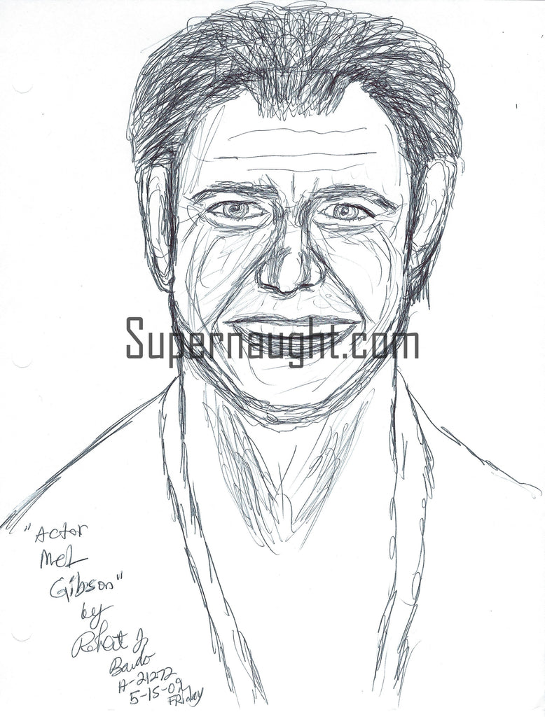 Robert Bardo Mel Gibson Drawing