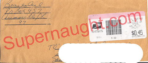 Barbara Beausoleil return address envelope signed - Supernaught True Crime Collectibles