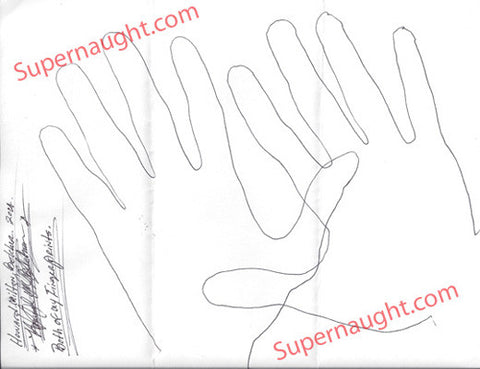 Howard Milton Belcher handtracings signed twice - Supernaught True Crime Collectibles