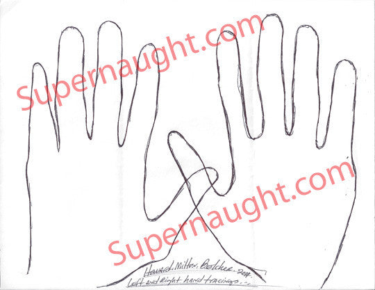 Howard Milton Belcher hand tracings signed in full - Supernaught True Crime Collectibles
