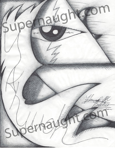 Howard Belcher Yahweh Eye Artwork Signed - Supernaught True Crime Collectibles
