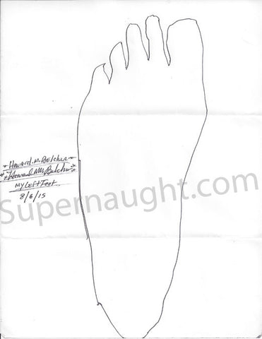 Howard Belcher foot tracings both signed - Supernaught True Crime Collectibles - 1