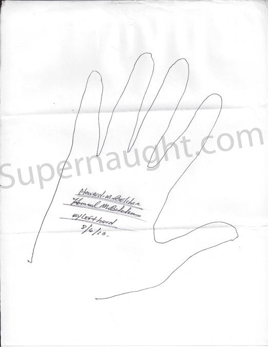 Howard Belcher both hand tracings signed - Supernaught True Crime Collectibles - 1