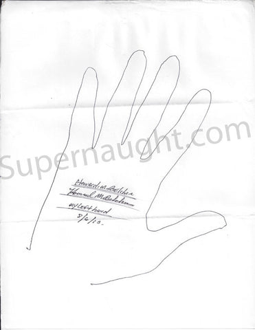 Howard Belcher signed serial killer hand tracings