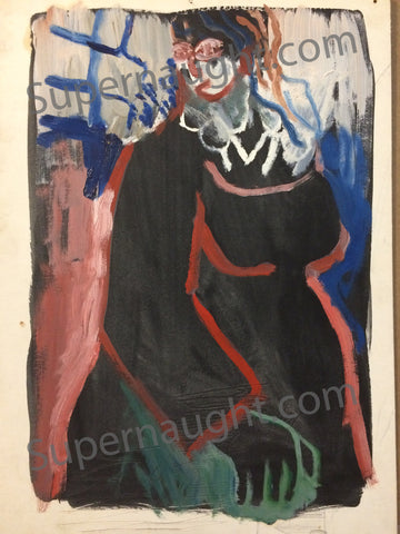 Robert Berdella Abstract Female Painting