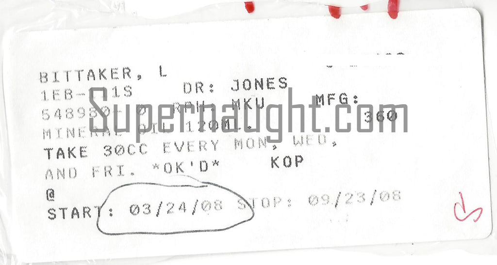 lawrence bittaker death row prescription label