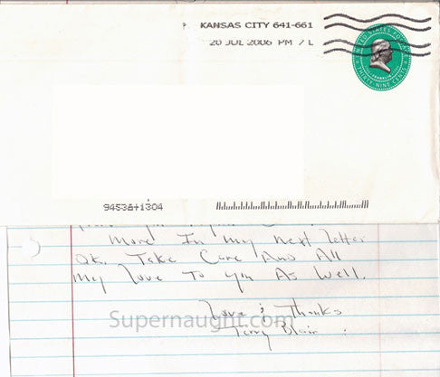 Terry Blair 2006 county letter letter signed with envelope set - Supernaught True Crime Collectibles