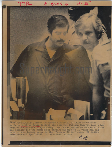 William Bonin Sentenced To Death Press Photo Supernaught