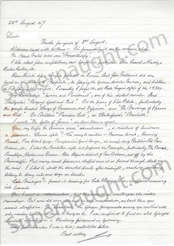 Ian Brady Letter and Envelope Set Both Signed