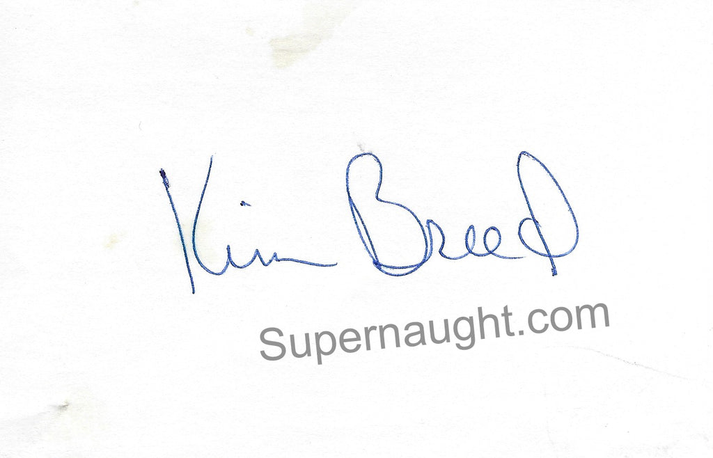 Kim Breed Veronica Compton Victim Signed Card