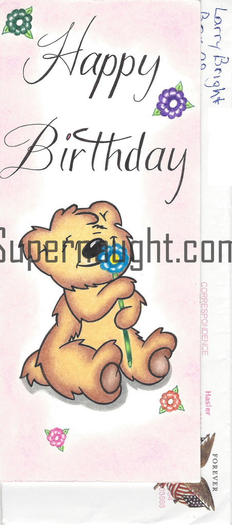 Larry Bright Happy Birthday Card And Envelope Set Both Signed