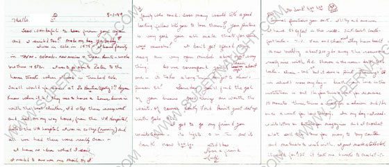 Judias Buenoano six page letter signed Judi - Supernaught True Crime Collectibles