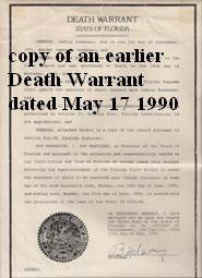 Judias Buenoano copy of her Florida death warrant - Supernaught True Crime Collectibles