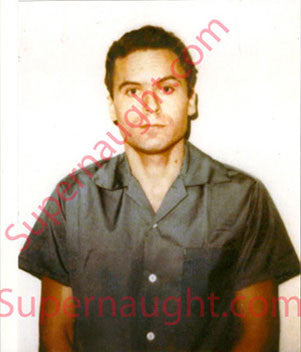 Ted Bundy first photo taken on death row 1979 - Supernaught True Crime Collectibles