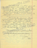 Ted Bundy Signed Letter
