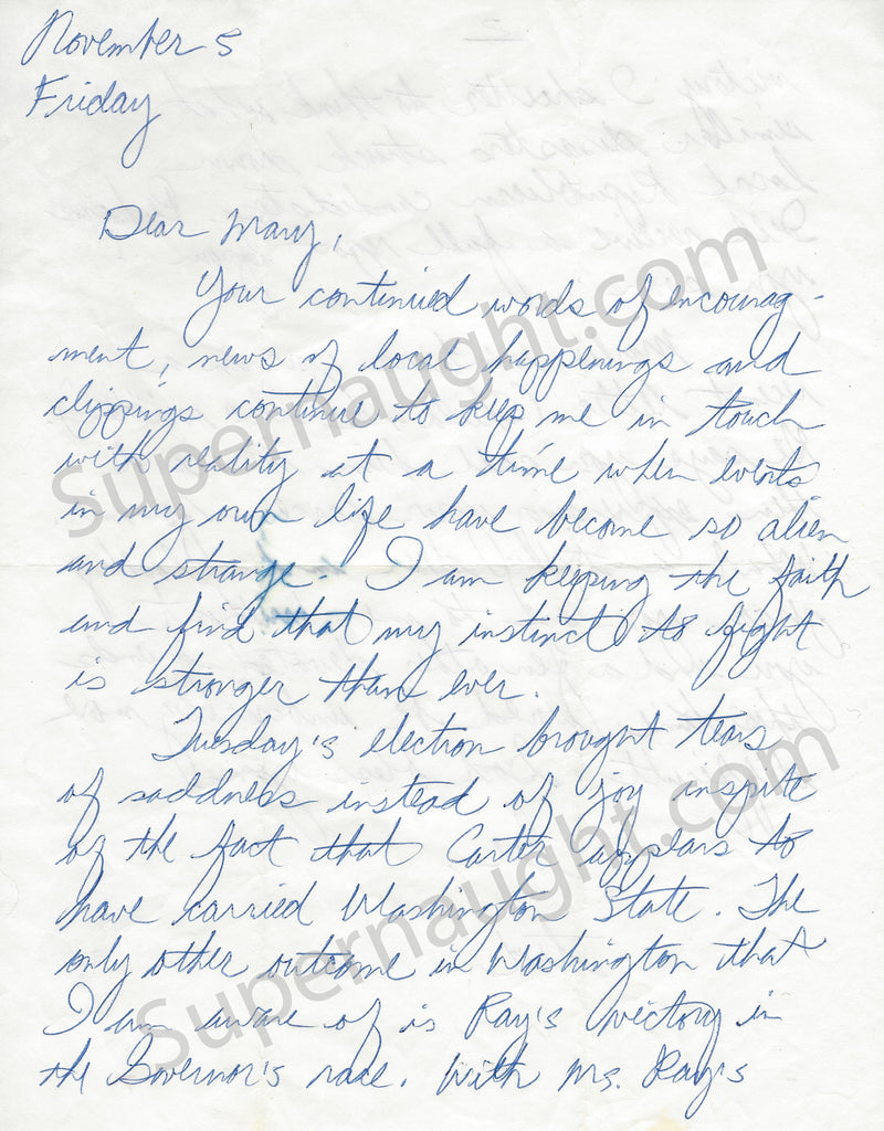 Ted Bundy signed two page letter