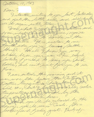 Ted Bundy 5 page letter and envelope set both signed