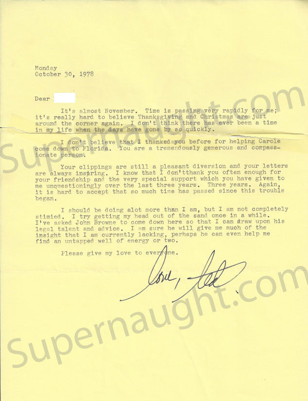Ted Bundy October 30 1978 letter signed with county jail envelope - Supernaught True Crime Collectibles - 1