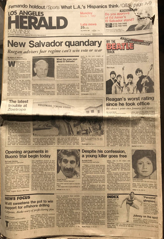 Los Angeles Herald March 1 1982 Angelo Buono Trial Hillside Stranglers