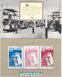 Mark David Chapman Australia Historic Tramways Kemp Land 3 Stamps - Supernaught True Crime Collectibles - 2