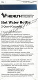 Douglas Clark Health Team Hot Water Bottle Box Portion Signed