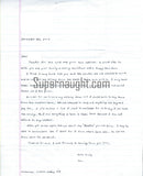 Nathaniel Code signed letter and envelope death row